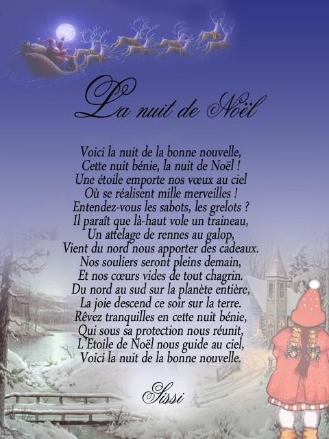 Noël étoilé Et Paysages Dhiver Poeme La Nuit De Noel