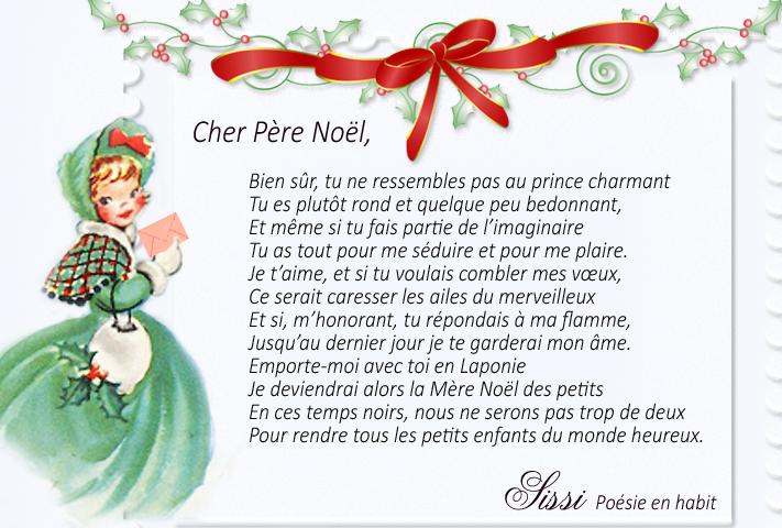 Poeme Lettre Au Pere Noel.Ma Lettre Au Pere Noel
